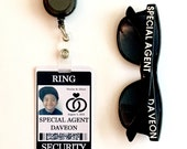 Ring Security ID Badge Set with Sunglasses - Wedding Ring Bearer Alternative / Gift