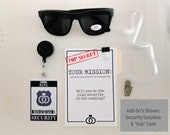 Ring Security ID Badge Set with Sunglasses - Wedding Ring Bearer Alternative / Ring Bearer Gift