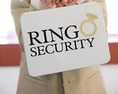 White Ring Security Box - Complete with Coloring Book with Crayons - Ring Bearer Alternative