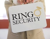 White Ring Security Box with Ring Pillow - Complete with Coloring Book with Crayons - Ring Bearer Alternative