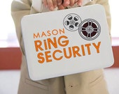 Movie Themed White Ring Security Box - Complete with Coloring Book with Crayons - Ring Bearer Alternative