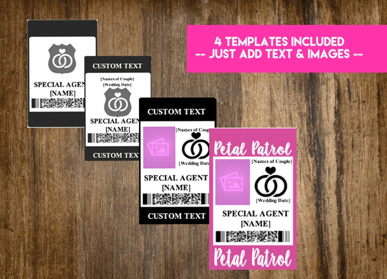 INSTANT DOWNLOAD Ring Security Badge / Wedding Security Suite image 1