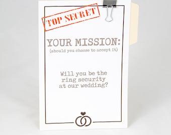 Wedding Party Proposal Card - ASK CARD for Ring Bearer Ring Security Flower Girl Junior Groomsman Petal Patrol Bride Security