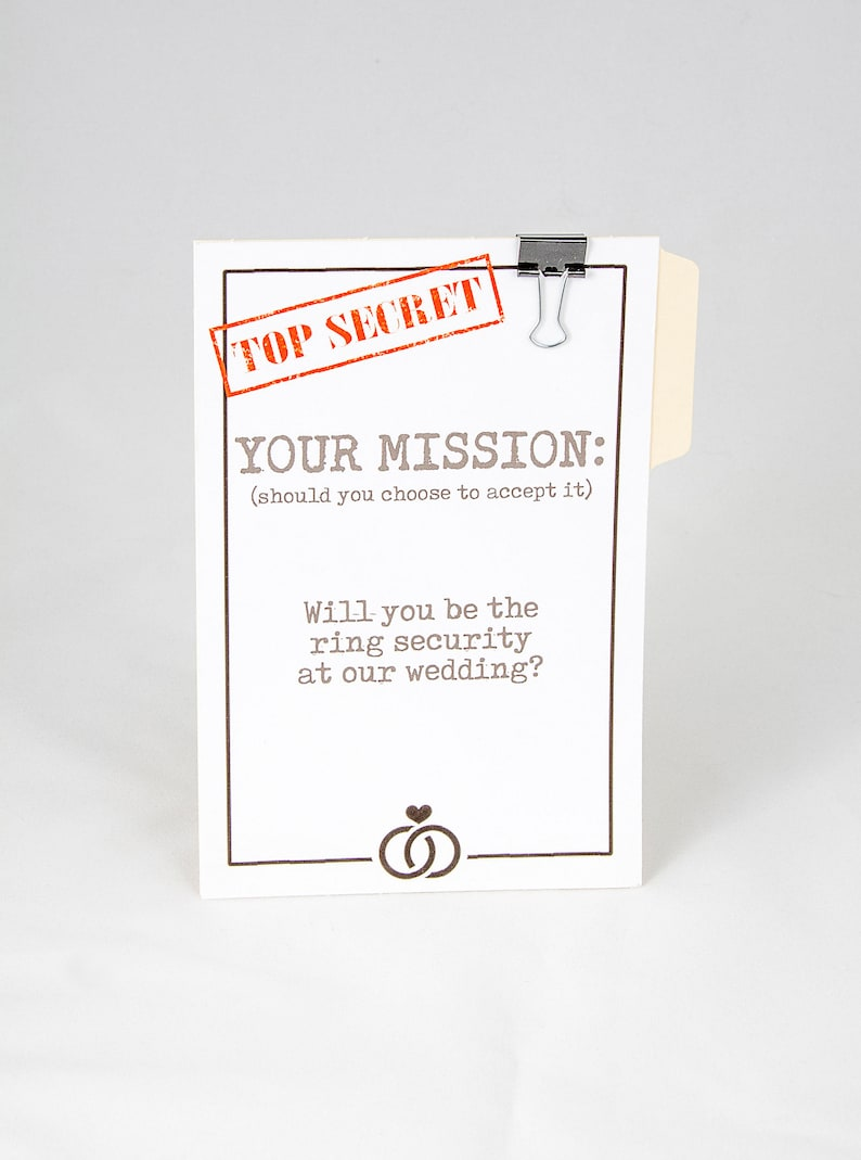 Wedding Party Proposal Card  ASK CARD for Ring Bearer Ring image 1