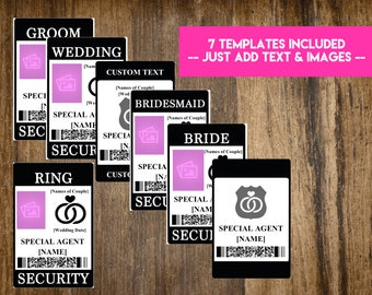 INSTANT DOWNLOAD Ring Security Badge / Wedding Security Suite - Print-at-Home Word DOC Printables