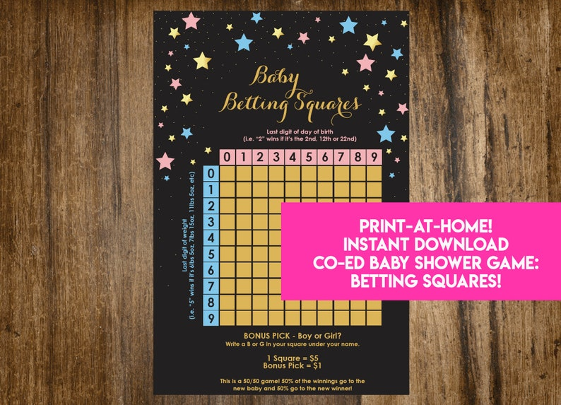 INSTANT DOWNLOAD Twinkle Twinkle Little Star Baby Betting image 0