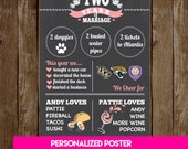 Anniversary Chalkboard Poster - Personalized Printable / Digital Download