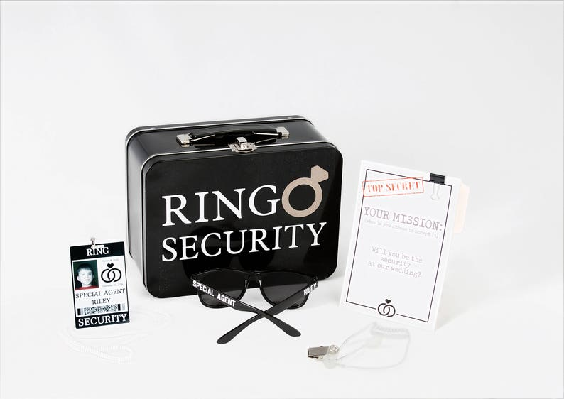 Complete Ring Security Set  Box with Ring Pillow Proposal image 0