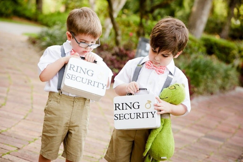 SET OF 2 Ring Security Boxes white or black  Complete with image 0