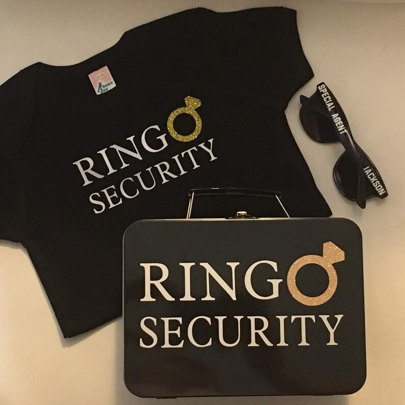 Ring Security Set  T-Shirt Box with Ring Pillow Sunglasses image 0