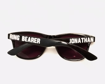 Special Agent Sunglasses - Ring Security Ring Bearer Jr. Groomsman Gift / 007 James Bond Party