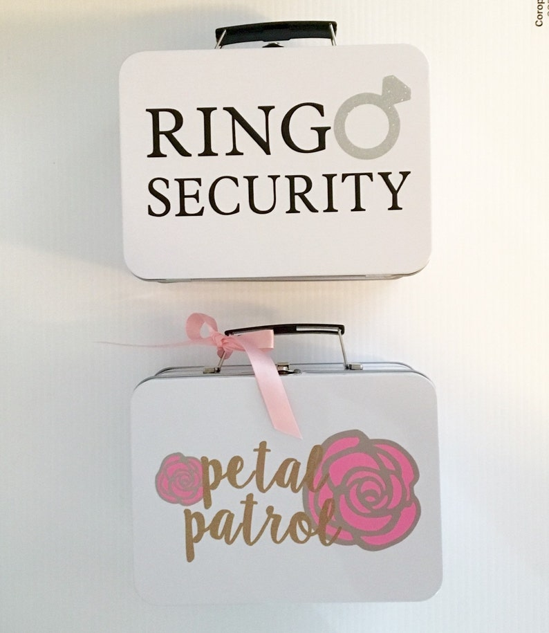 SET OF 2 Ring Security  Petal Patrol Boxes  Complete with image 1