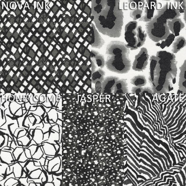 Rod-Pocket Curtain Panels Tulum Ink Geometric Black /& Gray