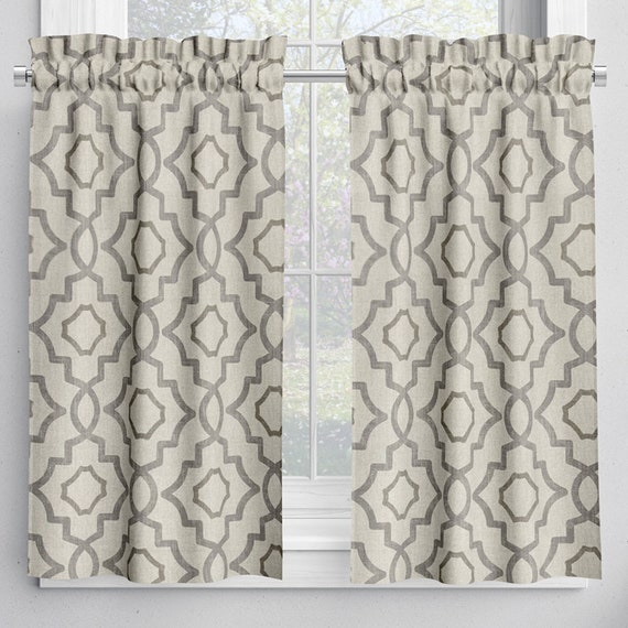 NEW French Country Toile Suede Brown Tailored Valance Lined 100/% Cotton