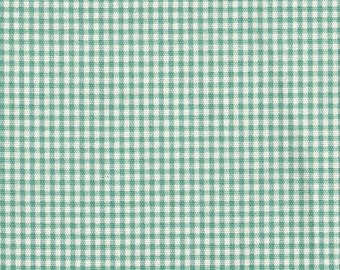 Rod-Pocket Curtain Panels Pool Green Gingham Check