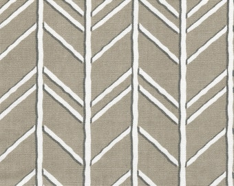 Tailored Valance Bogatell Cove Taupe Geometric