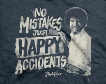 41d854ae Bob Ross, No Mistakes just Happy Accidents, Upcyled Unisex/Boys/Girls T  Shirt Harem Romper