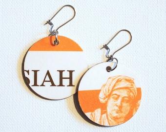 Handel's Messiah Score Cover Recycled Paper Handmade Earrings Pair #2