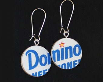 Baltimore Landmark Handmade Reversible Recycled Paper Earrings