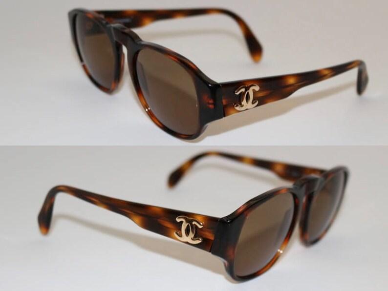 cf2bf31d33 PRISTINE Vintage Chanel Havana Brown Tortoise Shell Sunglasses