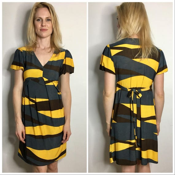 Hufflepuff-ed Sleeve Tie-Back Dress S/M
