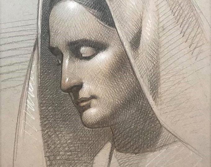 Study of Mary III (original drawing)