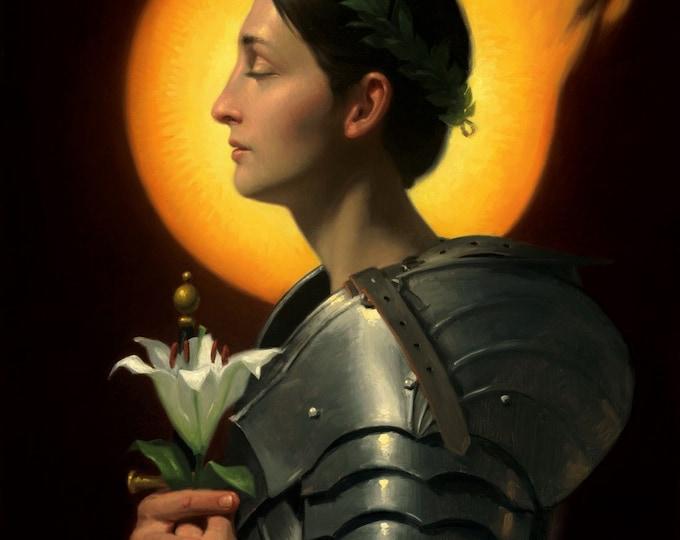 "St. Joan of Arc (Giclee Print) - 11x14"""