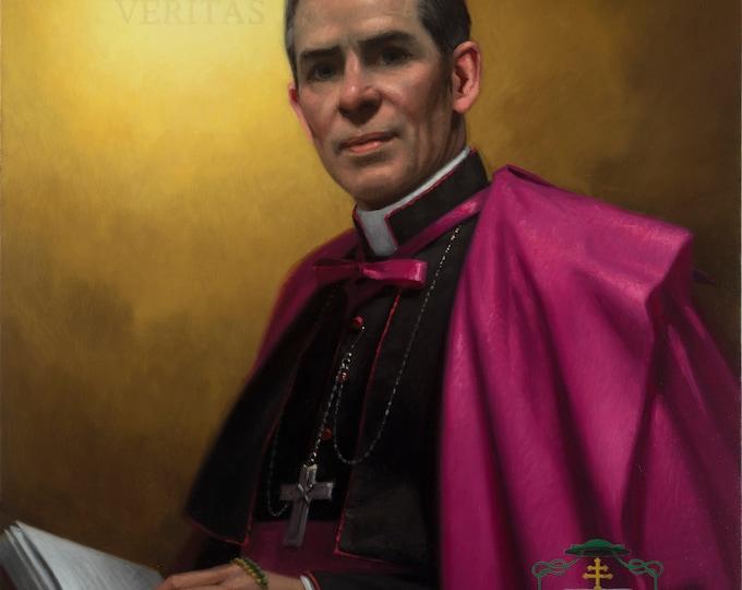 "Venerable Archbishop Fulton Sheen (Giclee Print) - 8x10"""