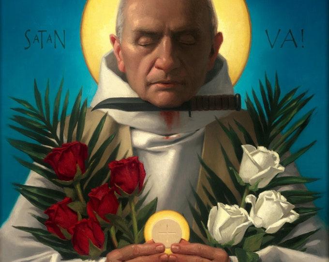 """Fr. Jaques Hamel, Martyr for Christ (Giclee Print) - 8x10"""""""