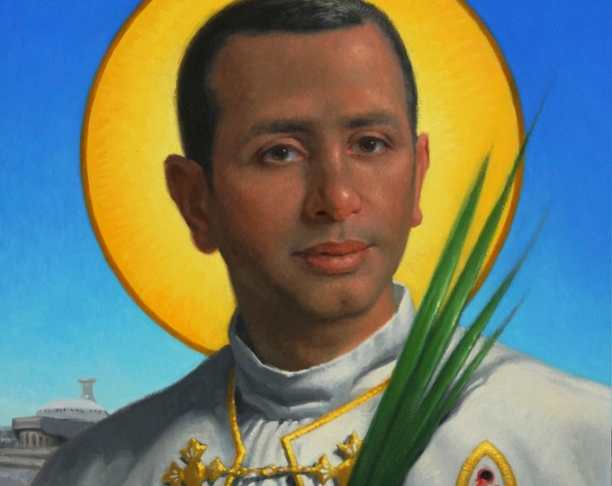 "Fr. Ragheed Ganni, Servant of God (Giclee Print) -11x14"""