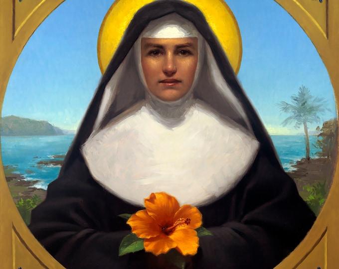 """Saint Marianne of Moloka'i (Giclee Print) - 10x10"""""""