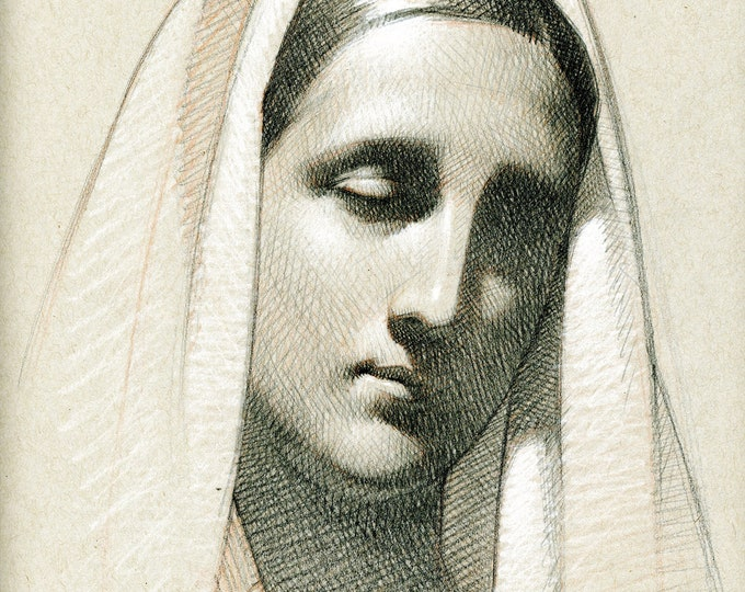 Study of Mary II (original drawing)