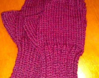 Knit Wool Fingerless Gloves - Women's Fingerless Gloves