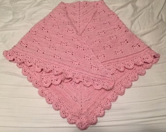 Crochet Lacy Shawl - Soft!