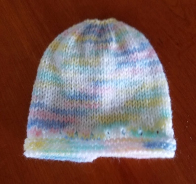 Hand Knit Small Newborn or Preemie Sweater Hat and Booties Set