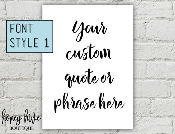 12x16 custom canvas sign typography wall decor | Etsy