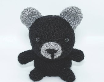 Handmade Crochet black bear