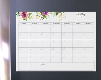 Magnetic Calendar Etsy