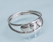Clam Bar Ring - Cast Silver Shells Open Band
