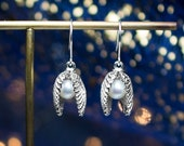 Clam Pearl Drop Earrings ...