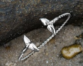 Silver Sea Tail Cuff - Tw...