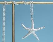 Cast Silver Starfish Necklace - Seastar Charm