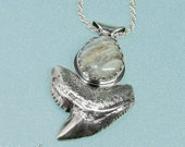 Unique Silver Shark Tooth...