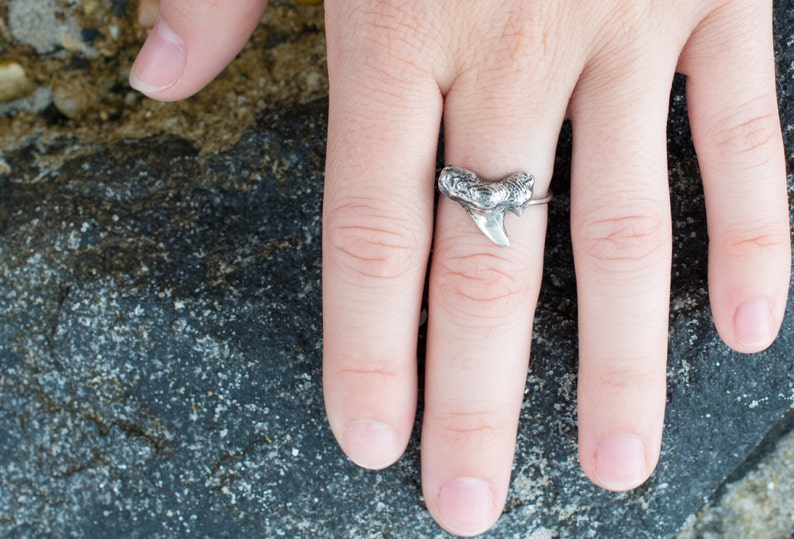 Silver/Bronze Shark Tooth Ring image 0