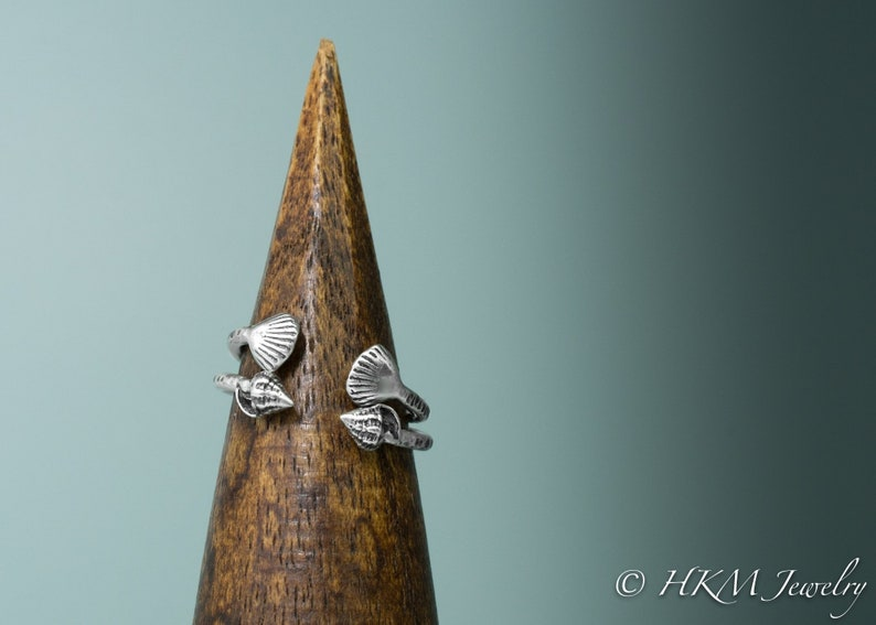 Mini Adjustable Shell Ring image 0