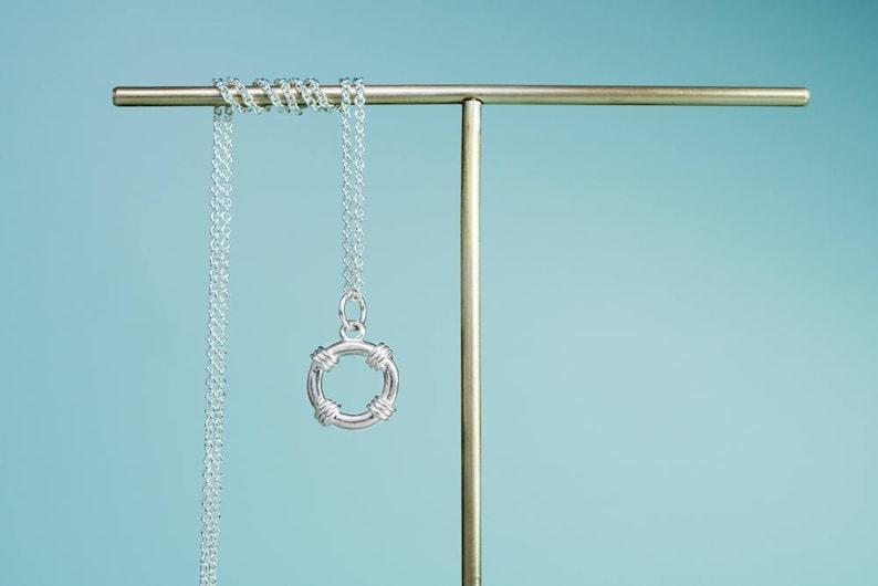 Lifesaver Necklace  Life Preserver Charm image 0