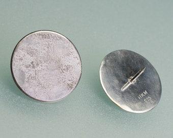 Fused Sterling Silver Disc Tie Pin / Brooch