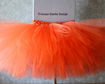 01855fc3f24e Orange Tutu, Pumpkin Tutu, Thanksgiving Tutu, Fall Tutu, Halloween Tutu,  Solid Color Tutu, Infant/Toddler Tutu, Adult Tutu, Running Tutu