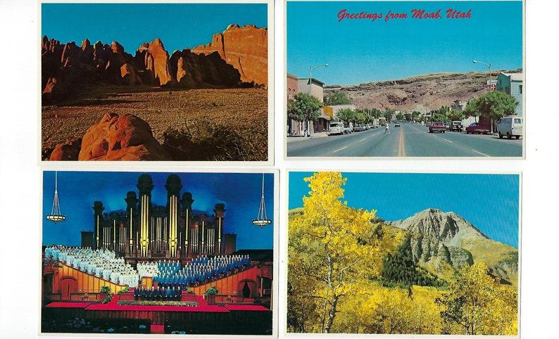 Unused Journals Salt Lake City 20 Vintage Postcards of Utah Moab,Arches Travel Postcard Scrapbooks