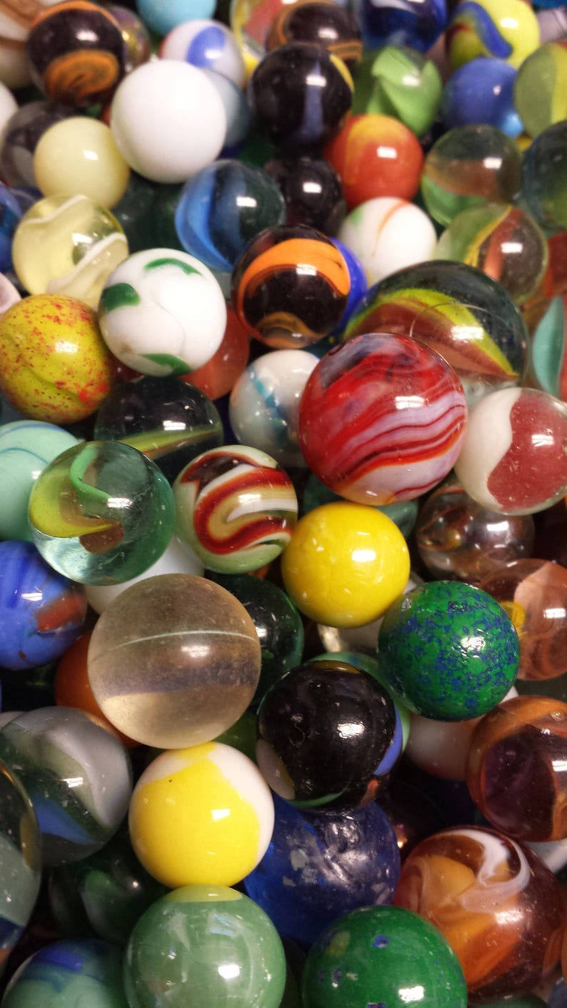 Vintage Marbles lot of 25 of various designsstyle and sizes image 0